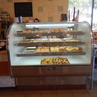 Xinia's Bakery baked goods inside case