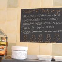 Xinia's Bakery pupusa blackboard
