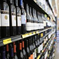 Grocery Outlet aisle of wine